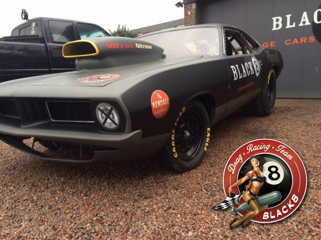 Black8 Supergas Dragracer op American Sunday 2015 Zandvoort Dragrace