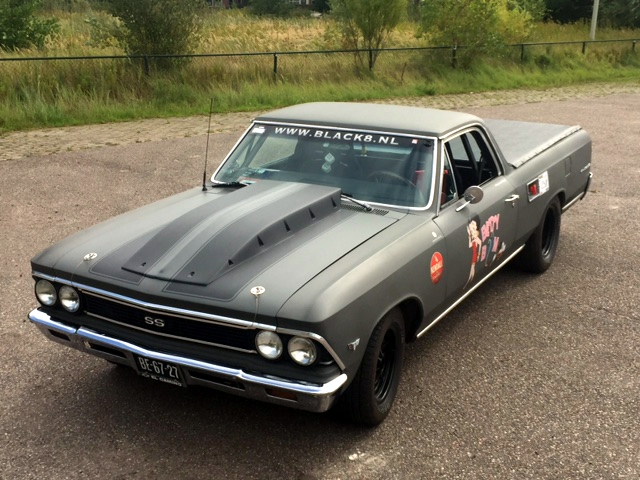 Te koop 1966 El Camino dragrace 383 stroker V8 NOS race
