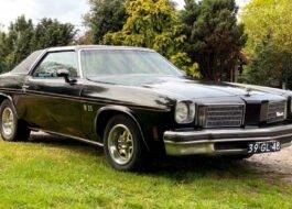 1975 Oldsmobile Cutlass Supreme Hurst benzine lpg apk t-top 350 5.7 Hurst racing uitvoering